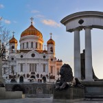 Cathedral of Christ the Savior in the evening