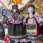 linen doll in Russian national dress
